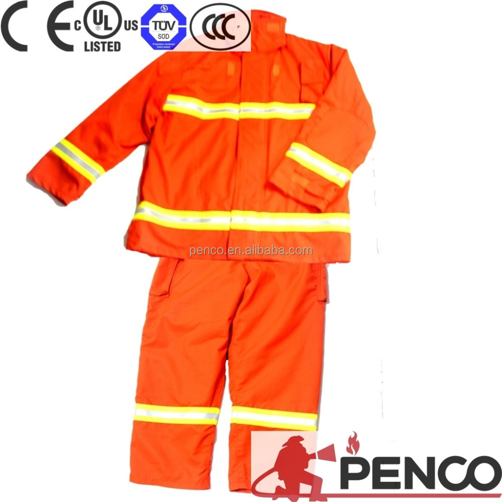 Orange Nomex Firefighting Suit