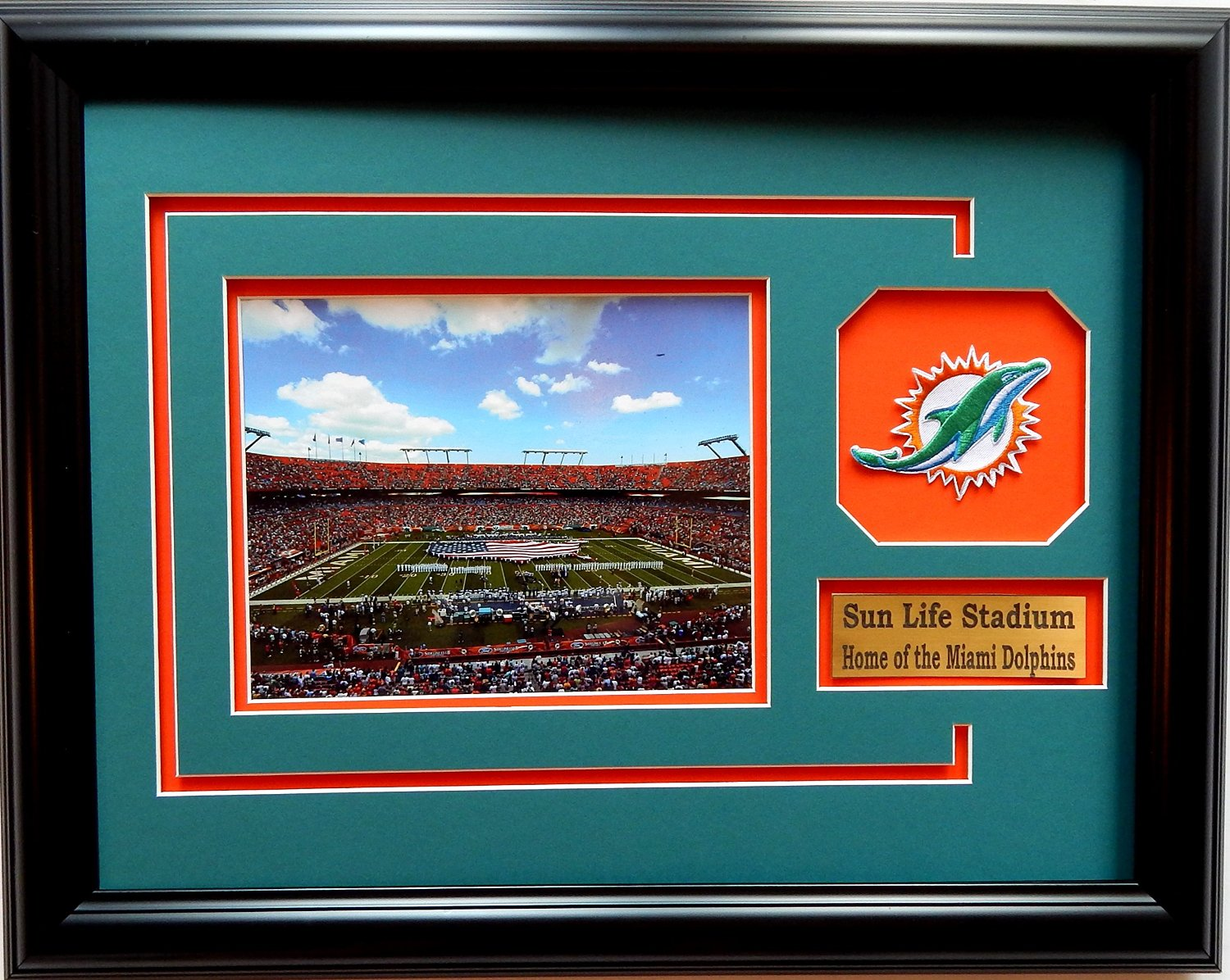 Buy nike nfl miami dolphins stadium lock up gloves large in cheap nfl miami dolphins sun life stadium picture frame with team patch and nameplate medium jeuxipadfo Image collections