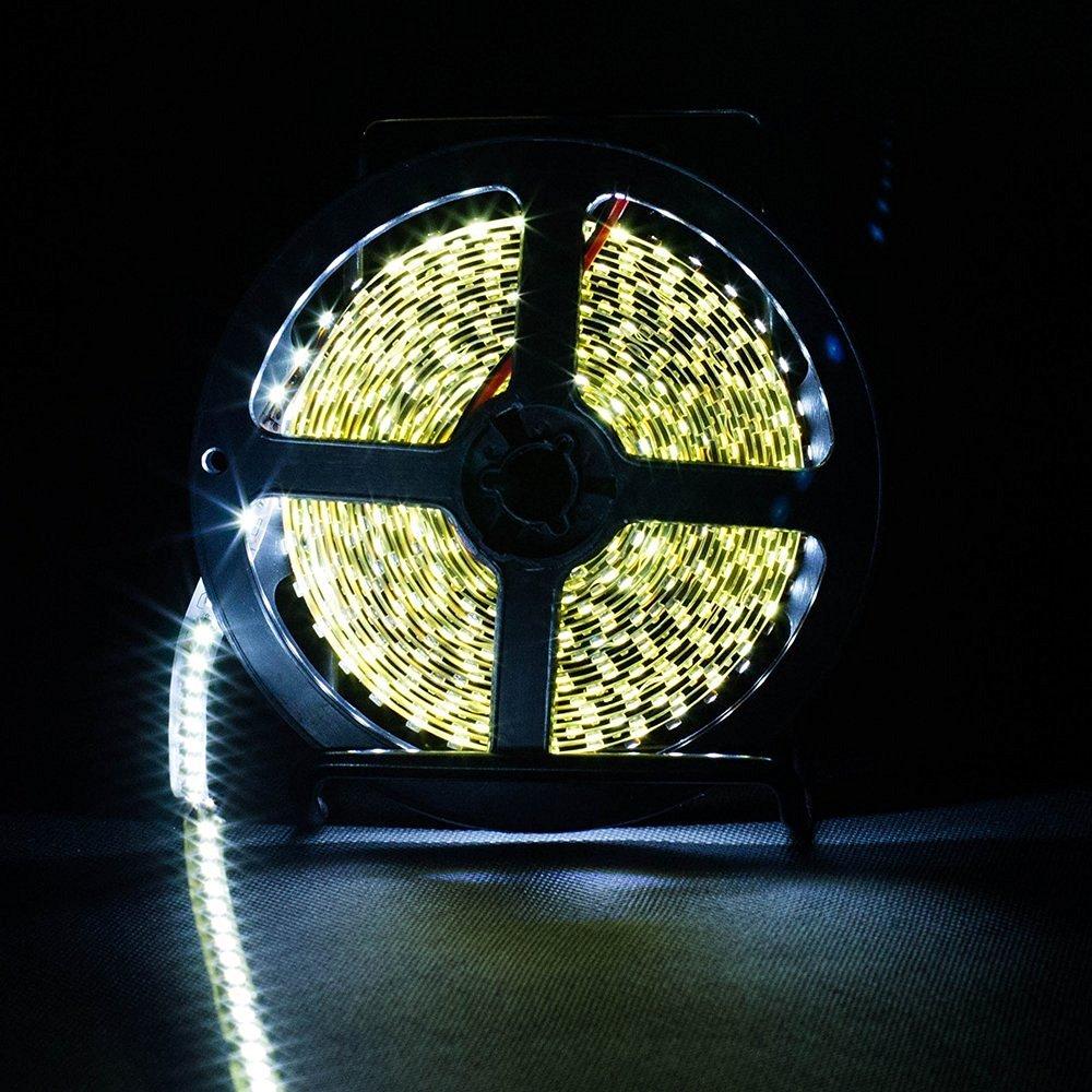 SINOLLC DC12V 3528 SMD 120leds/m Natural White Flexible LED Strip Light Un-waterproof Indoor High Density Super Bright LED Strip Light