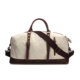 Water Resistant Canvas Duffle Shoulder Bag genuine leather Unisex overnight Gym Sport Travelling Bags