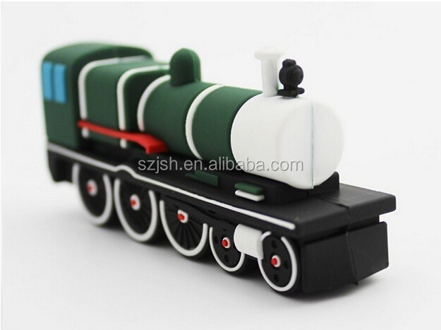 New Silicone Train Shape USB 2.0 Flash Drive For Promotion Giveway