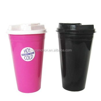 Insulated Plastic Double Wall Coffee Mug Travel Mug With Spill Proof  Stopper Lid - Buy Insulated Coffee Mugs With Lid,Insulated Coffee  Mug,Plastic