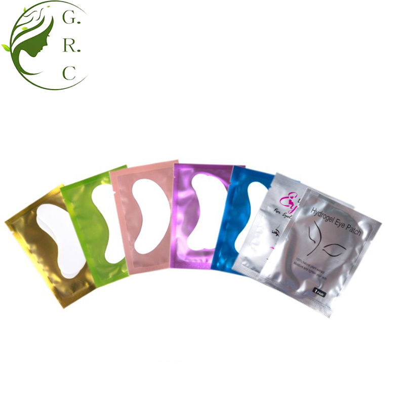 Private label hydrogel gold lint kostenloser make-up entferner wimpern extensions gel patch kollagen unter eye pads