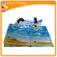 SGS Certificate print 3D Pop up offset book for kids