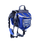 Adjustable Large Capacity Pet Dog Hiking Backpack Harness , Outdoor Camping Pet Dog Backpack Dog Saddle Bags