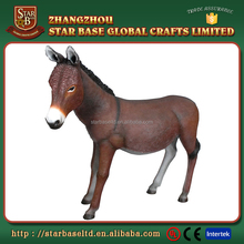 Custom made wholesales decorative resin donkey figurine