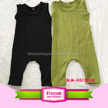 e94976eeed1 Custom design your own clothes jumpsuit romper olive Blank Organic Cotton  Newborn Baby Clothes Girl Plain
