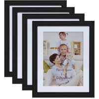 6x8 inch Wood Home Decoration Accessories Simple Wall Hanging Black Photo Frames