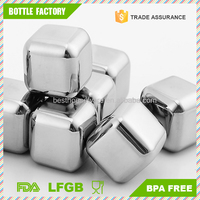 Stainless Steel Stones 27mm Ice Cube Great for Wiskey Beer Bar
