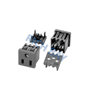 US Receptacle Nema 5-15R Snap-In Mount IDC terminal female outlet 15A 125V AC Receptacles 3-pin
