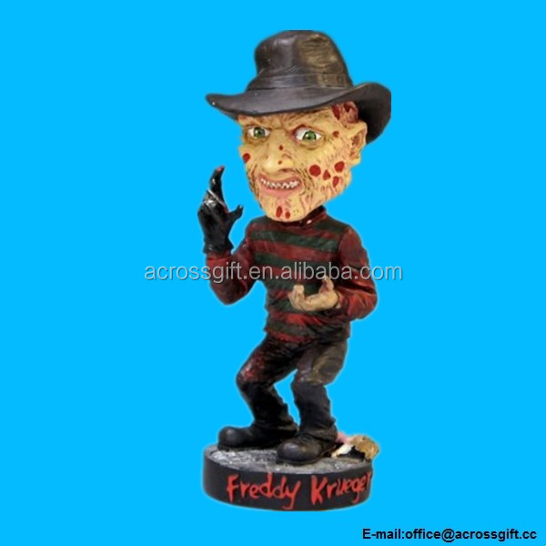 A Nightmare on Elm Street Head Knocker Freddy Krueger Bobble Head