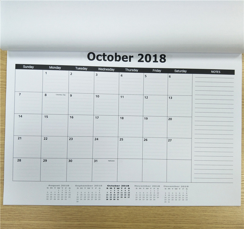 Paper Monthly Wall Hanging Pad Calendar for Home Deco