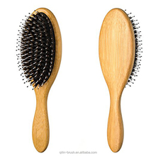2018 new beauty tools soft&hard wood tooth boar bristle hair brush Bamboo wooden brush