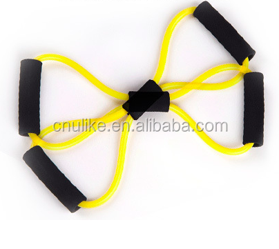Resistance Training Bands Tube Workout Exercise 8 Type Fashion chest expander with various resistance