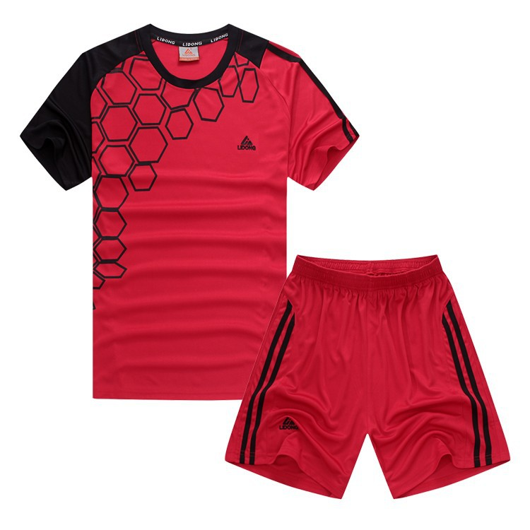 Get Quotations · 2015 New Arrival Soccer Jersey Set Men Kids Blank  Paintless Football Training Suit Breathable Short Sleeve 8d4e674e2