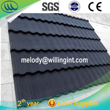 cheap price color stone coated metal roofing tiles shingle manufactory india