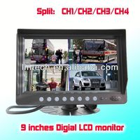 Digital 4 Split 9 inches quad crt monitor