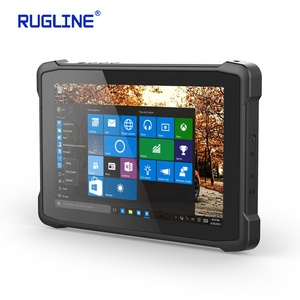 Image of Intel kabylake Core m3-7Y30 Win10 Home 10 Inch rugged Industrial Tablet with DB9 PORT Barcode Scanner Tablet PC