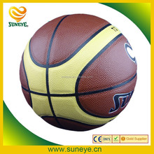 Hot Sale Shiny Cheap Leather Basketball