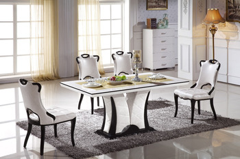 Italian modern marble dining tables set buy marble top - Table a manger pas cher ikea ...