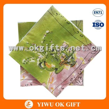 Rural Scenery Printing Napkin Paper Put On Dining Table