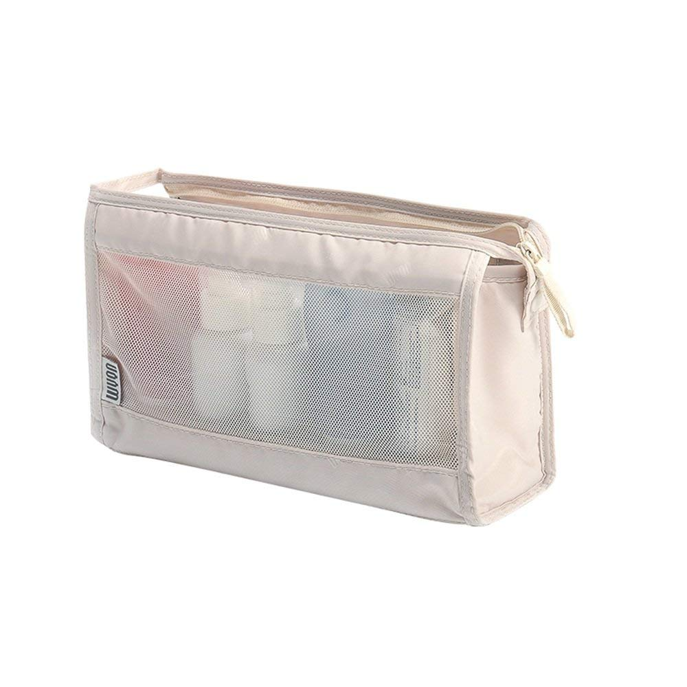 Cosmetic Bag LXZXZ- Travel Storage Bag Wash Bag Travel Wash Bag Men's Women's Waterproof Wash Bag Storage Bag Wash Bag (Color : Creamy-white)