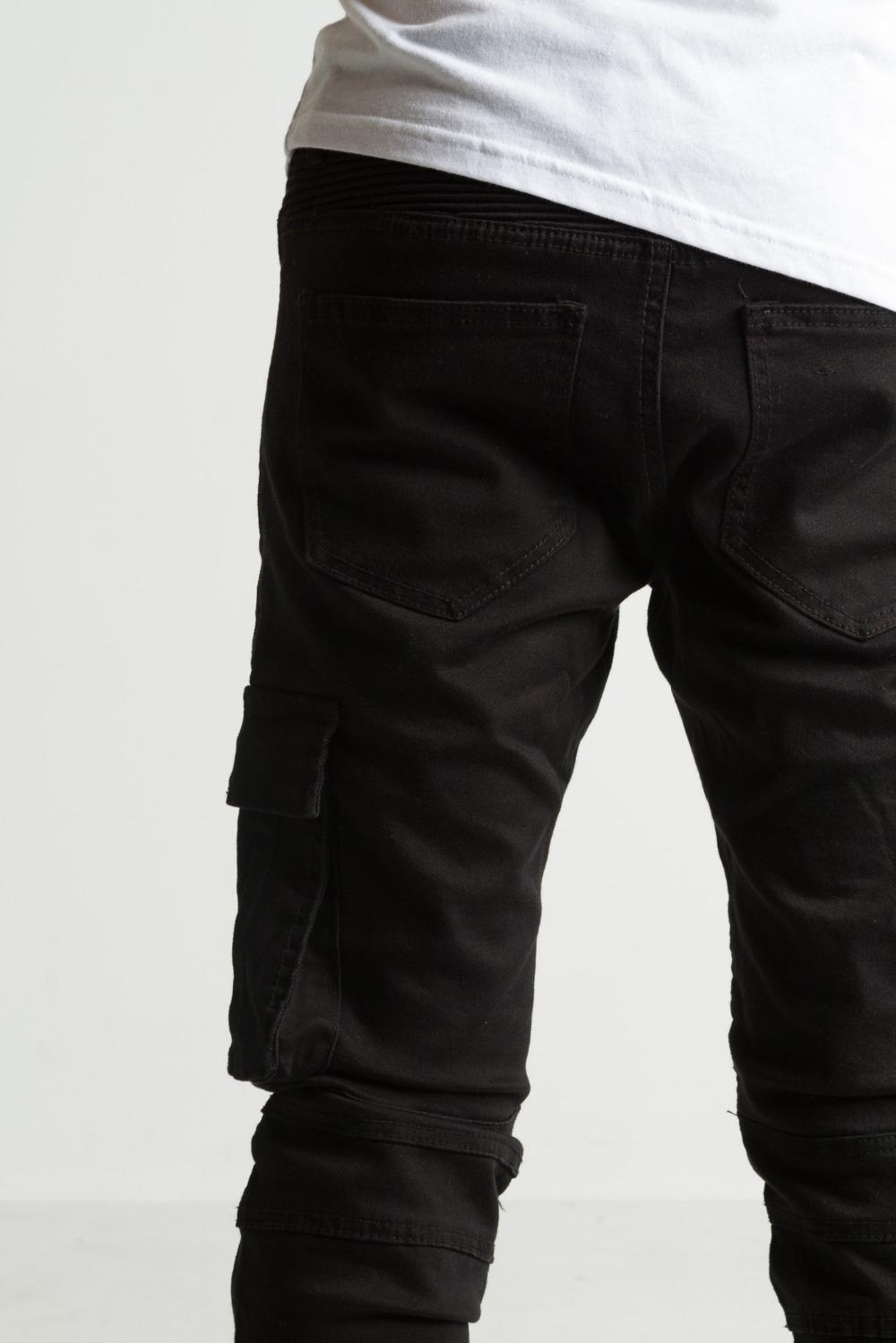 9487923b4f 2015 nuevo diseño negro cargo hombre biker Denim tirantes pantalones  vaqueros stock Hong Kong 232