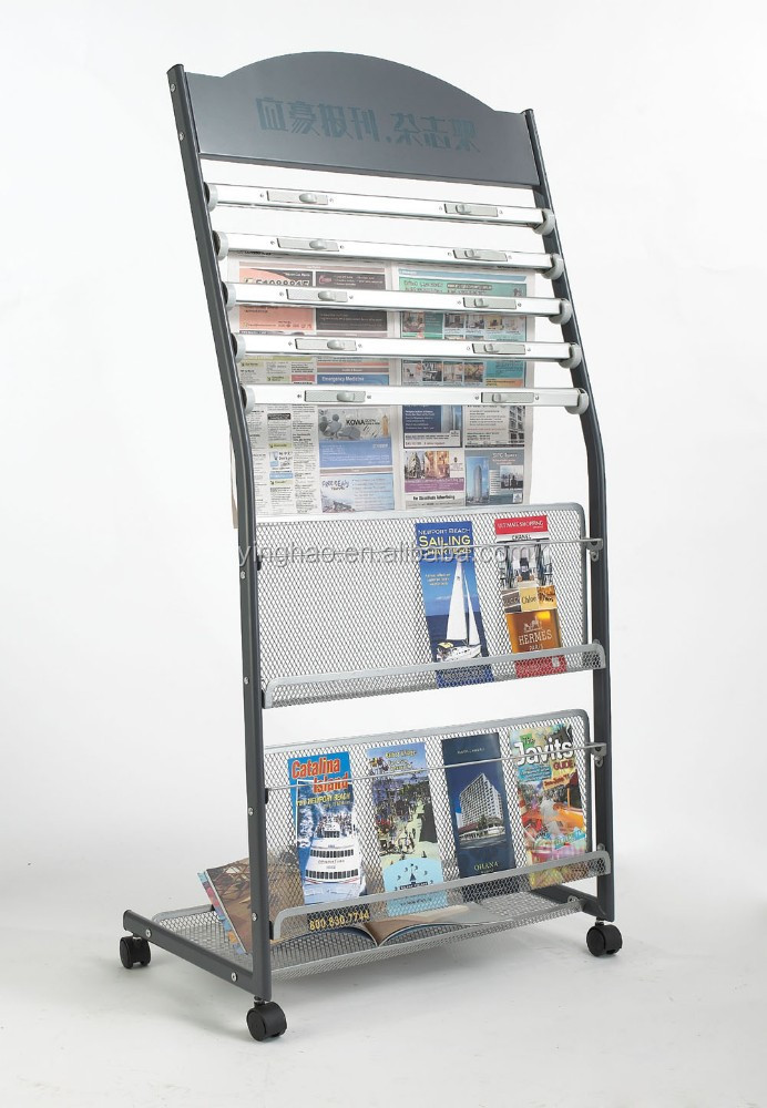 Periódico rack con display mobile pocket