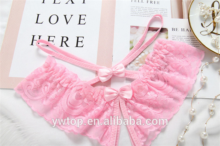 Women Bow Lingerie G String Thongs Lace Underwear Female Sheer Panties Style Hot Sale Transparent Knickers
