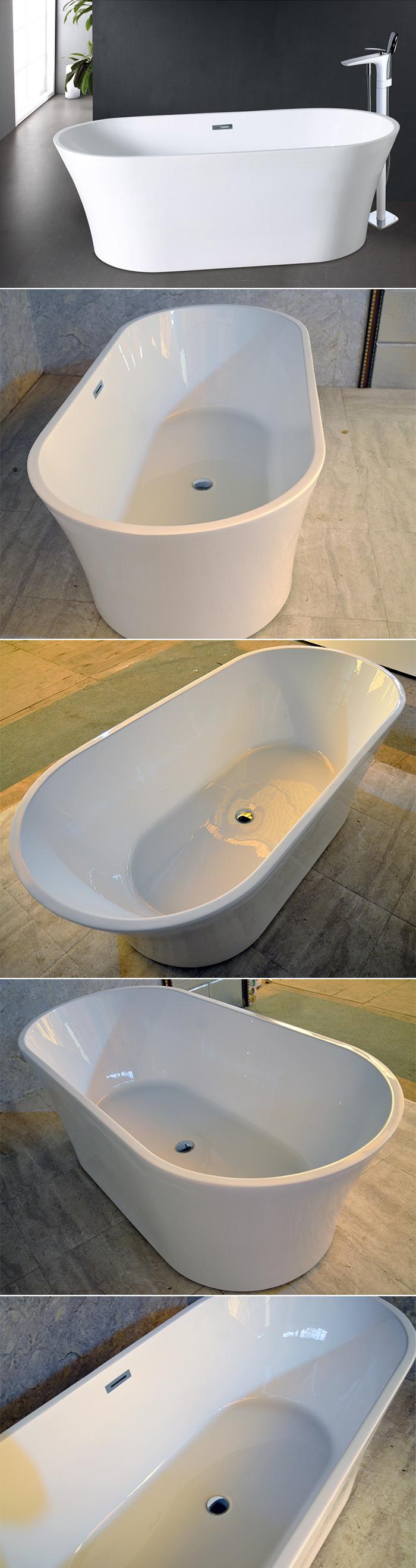 Hs-b529 New Model India Pure 100% Acrylic Cheap Freestanding Bathtub ...