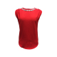 New Collection 100% Polyester Women Casual Office Wear Round Neck Design Cap Sleeve Stones & Beads Accessories Red Color Blouse