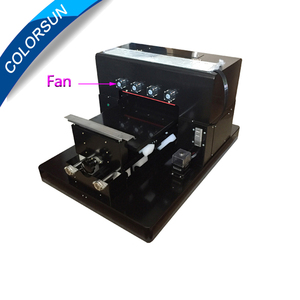 Mini a3 flatbed uv printer For Epson 1390 printer head 6 colors for phone case , tshirt , garment,id card ,ceramic printing