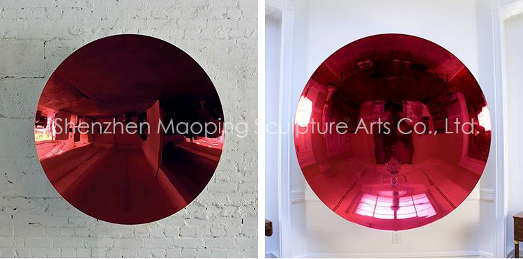 Anish Kapoor espejo cóncavo esmaltes de Escultura Contemporánea Interior de pared de acero inoxidable escultura