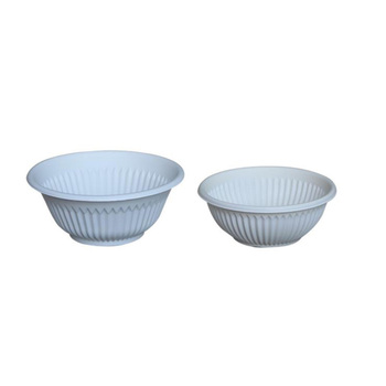 Factory wholesale eco-friendly dinnerware OEM disposable cornstarch soup bowl for package