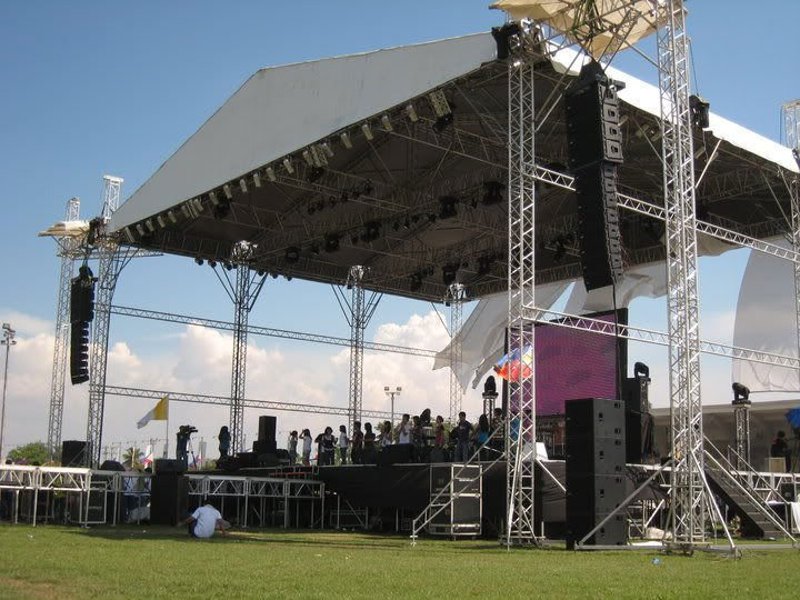 Aluminum Stage Truss Outdoor Roof System For Concert Sound Product On