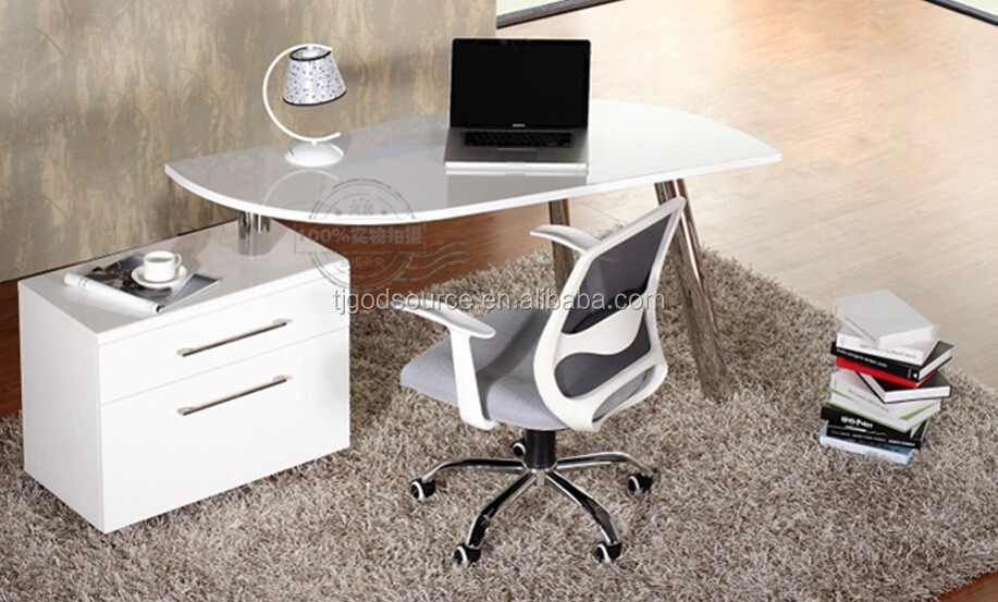 swivel mdf with high gloss and stainless steel leg laptop desk