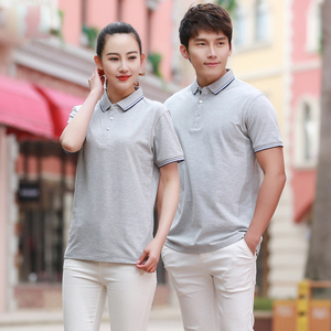 Sports 200 gsm slim fitfed color combination couple golf sleeve t shirt