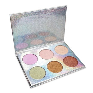 Wholesale Make Your Own Brand Multi-function Cosmetics 6 Colors Eyeshadow Highlighter Palette Contour Wet Eyeshadow