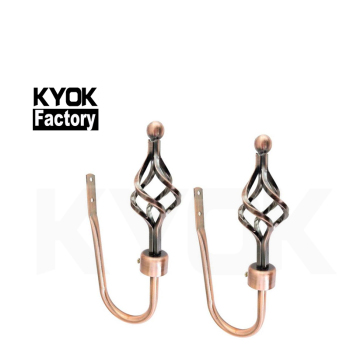 KYOK windows accessories home use metal s shape curtain hooks plastic curtain hooks with clip D910