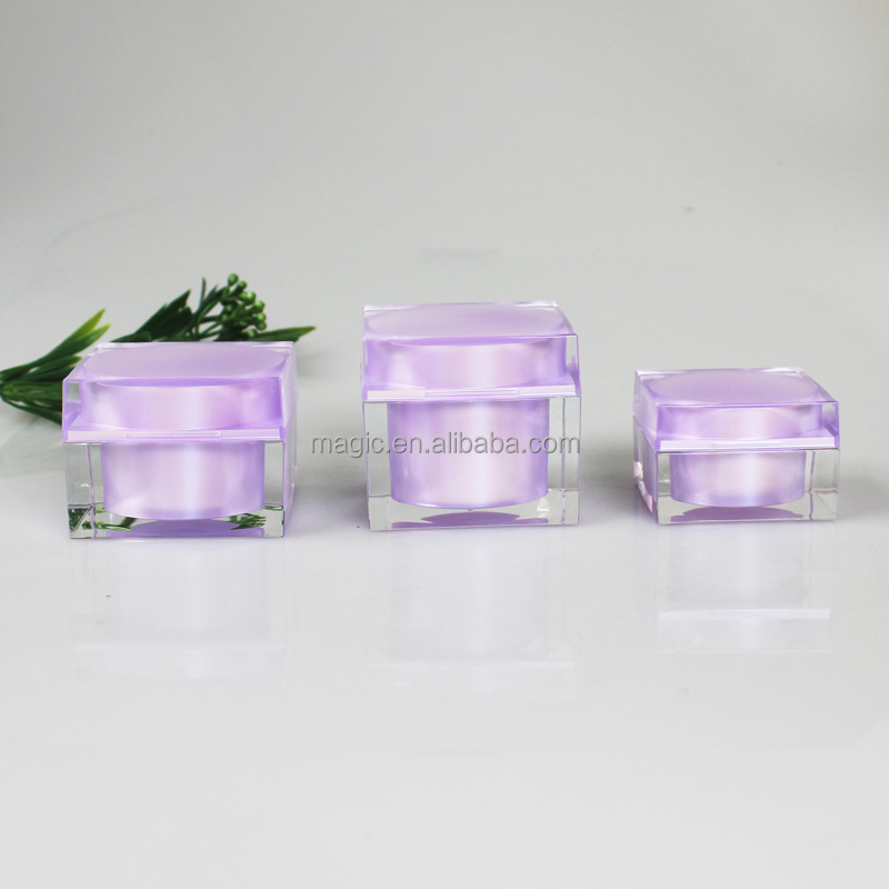Wholesale Manufacturer Acrylic Cosmetic Cream Container, High end cosmetic packaging