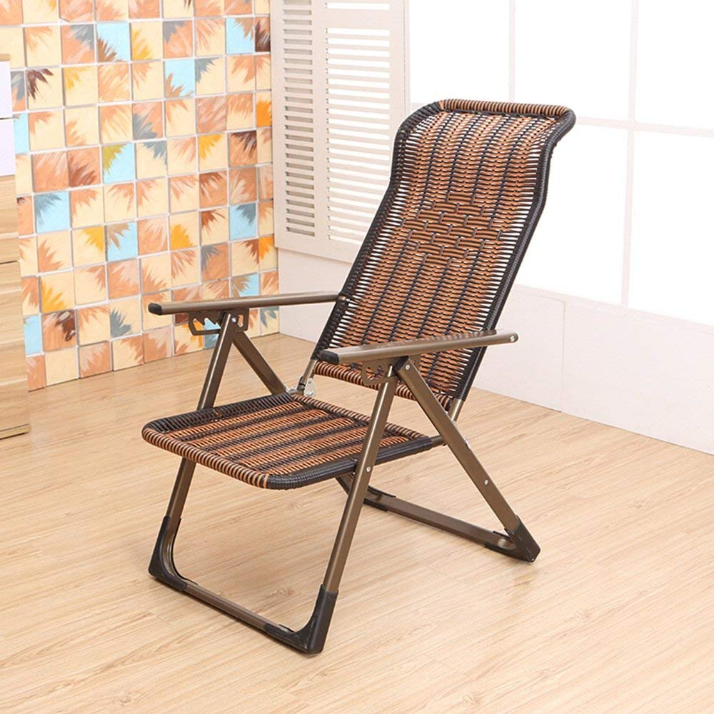 LQQGXLPortable Folding Table Leisure Chair, Multifunctional Folding Chair, Lounge Chair, Outdoor Beach Chair, (Color : Flat Foot)