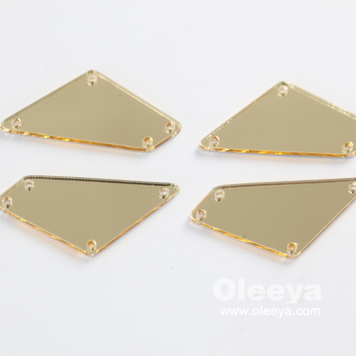Over 35 Shapes Flat Back Acrylic Sewing Strass Crystal Mirror Finish Sew on Rhinestones for Evening Dressing