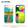 high-quality Rubber + pc 2 in 1 cell phone case for Iphone 5c, Customized Silicone plastic Phone Case