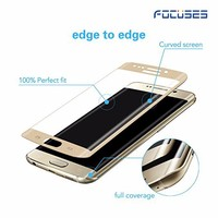 3D curved fit full coverage 99% Clear Colored edge Screen Protector Tempered Glass for Samsung galaxy S7