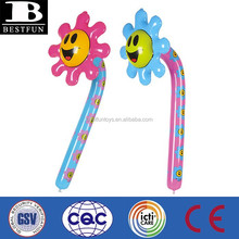 promotional custom made Inflatable smiling flowers plastic smiling flowers kids soft vinyl PVC flowers