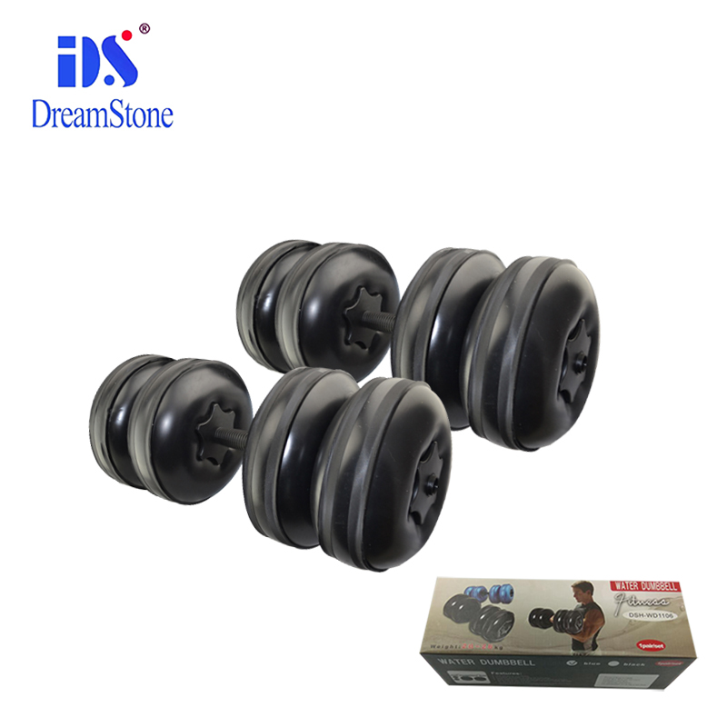 body building crossfit equicpment adjustable plastic water filled weights lifting dumbbell sets