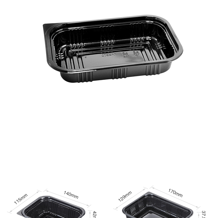 Easy Green japanese black reusable container box sushi with lid