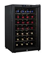 28 bottles, Electronic wine Cooler Cabinet thermoelectric glass door individual wine bottle cooler