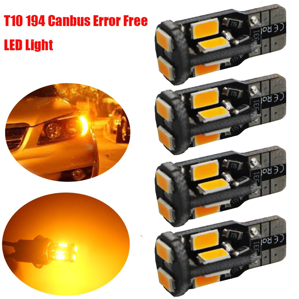 Cheap 12v 10w Amber Bulb Find Deals On Line At Led Smd Get Quotations 4 Pack T10 194 168 W5w 2825 Extremely Bright Yellow 550lums Canbus Error