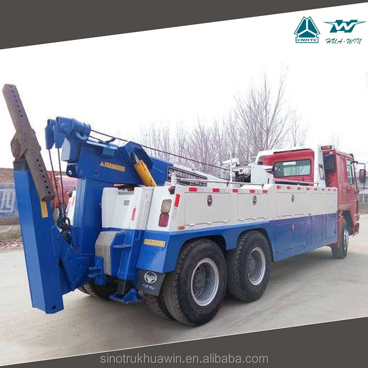 SINOTRUCK HOWO rotator wrecker 20-50 ton Heavy Duty Cheap Tow Truck Recovery Truck for sale